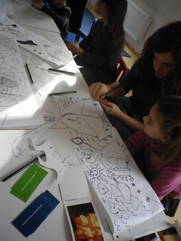 Csoportmunka, fantázia, rajzolás, játék, mese, képzelet, kreativitás